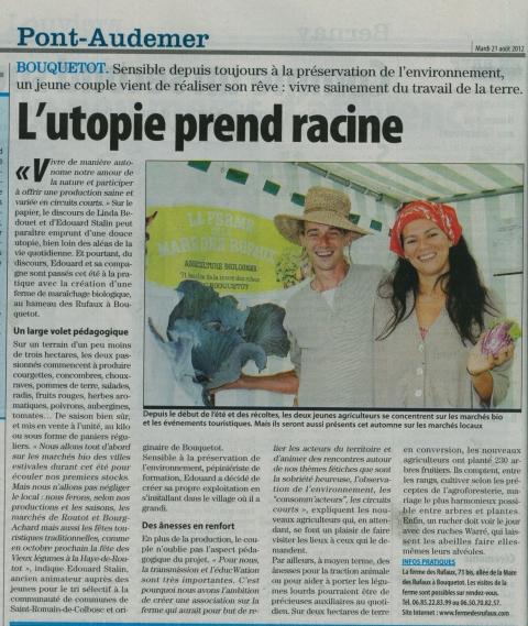 Notre premier article dans la presse !