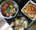 Recette Ferme de la Mare des Rufaux : Tian de courgette-ricotta-origan + couscous aubergine