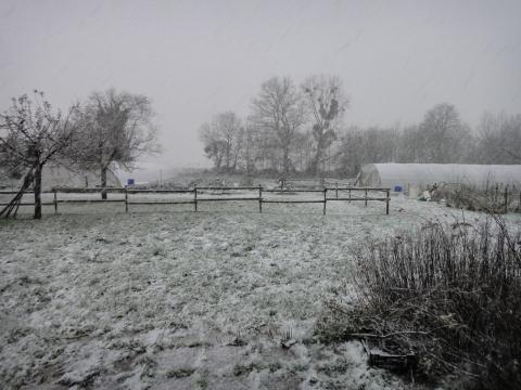 La ferme à l'heure d'hiver