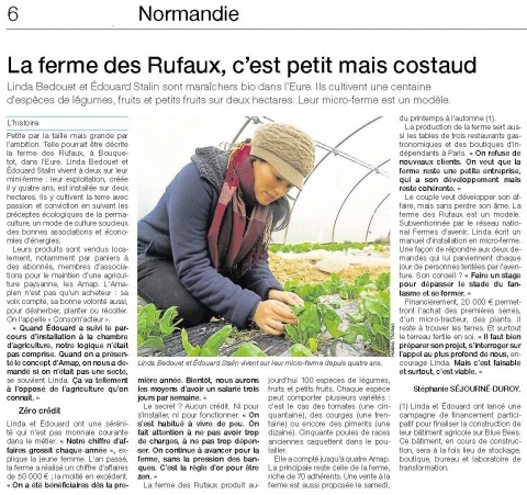 Ouest-France vendredi 15/04/2016