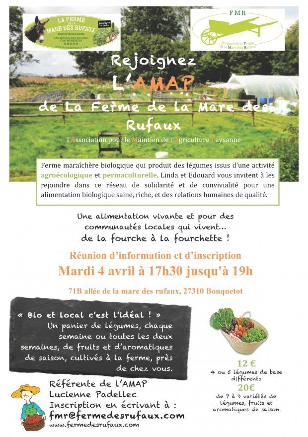 Réunion d'info AMAP de la ferme (mardi 17h45/19h)