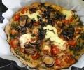 Recette ferme de la Mare des rufaux Quiche Aubergine-tomate cerise-feta-fanes de carottes