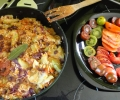 Recette colorée de la ferme des rufaux- Lentilles corail, chorizo, chou violet, courgette, tomate