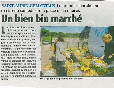 Marché de Saint-Aubin Celloville