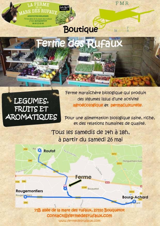 La Boutique est ouverte de mi mai à fin octobre, les vendredis de 17h30 à 19h30 & les samedis de 14h à 18h